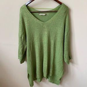 Soft Surroundings drop shoulder knit sweater #55